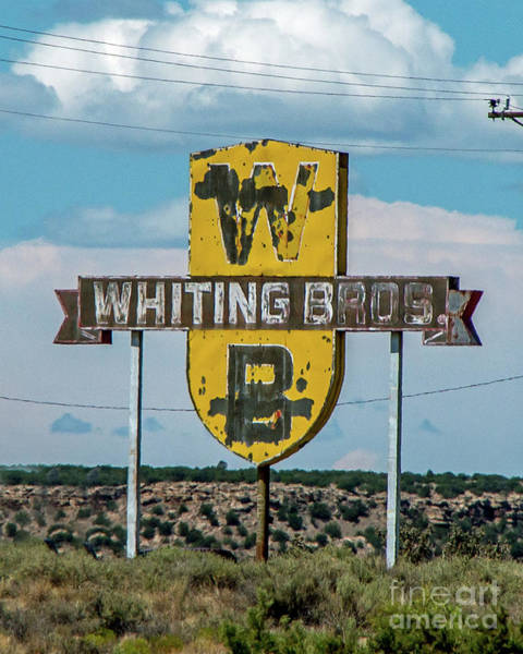 Wall Art - Photograph - Signs Of Whiting Bros. by Stephen Whalen
