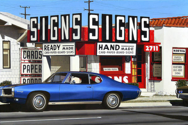Wall Art - Painting - Signs Signs by Michael Ward