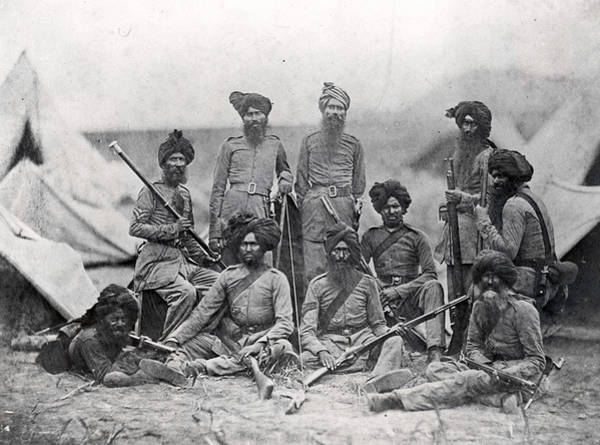 1850 Wall Art - Photograph - Sikh Soldiers by Felice Beato