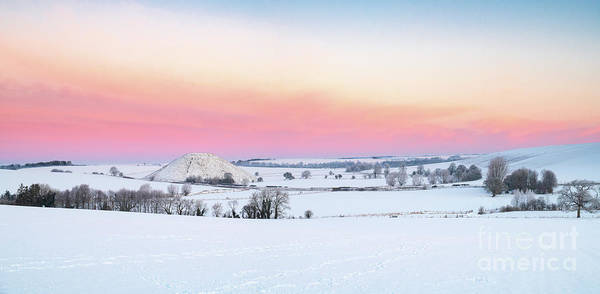 Photograph - Silbury Hill Winter Twilight Panoramic by Tim Gainey