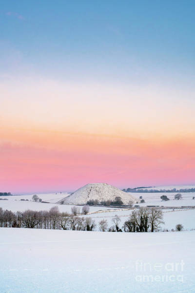 Photograph - Silbury Hill Winter Twilight by Tim Gainey