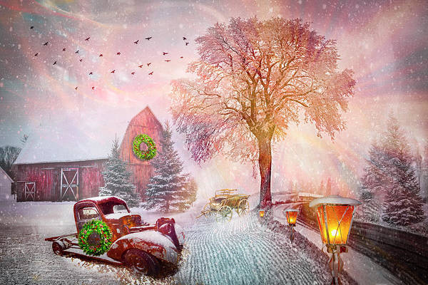 Wall Art - Photograph - Silent Christmas Snowfall by Debra and Dave Vanderlaan