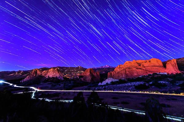 Colorado Photograph - Silent Night At The Garden Of The Gods by Photo By Matt Payne Of Durango, Colorado