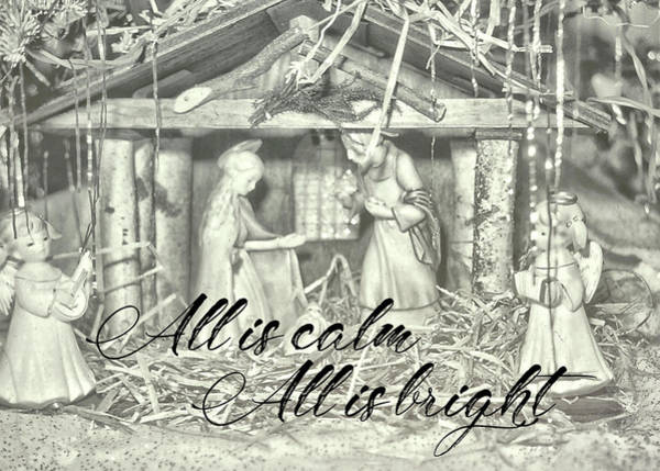 Photograph - Silent Night Holy Night Quote by JAMART Photography