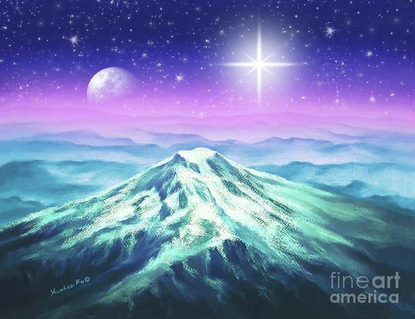 Wall Art - Pastel - Silent Night Holy Night  by Yoonhee Ko