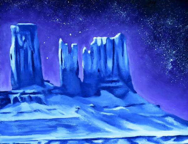 Star Formation Painting - Silent Sentinels by Rachel Beck