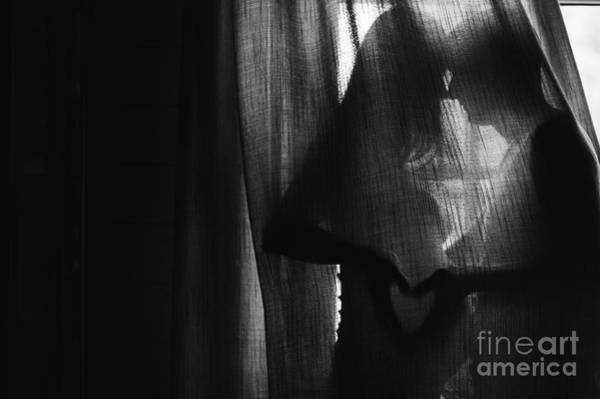 Health Wall Art - Photograph - Silhouette Beautiful Pregnant Woman And by Versta