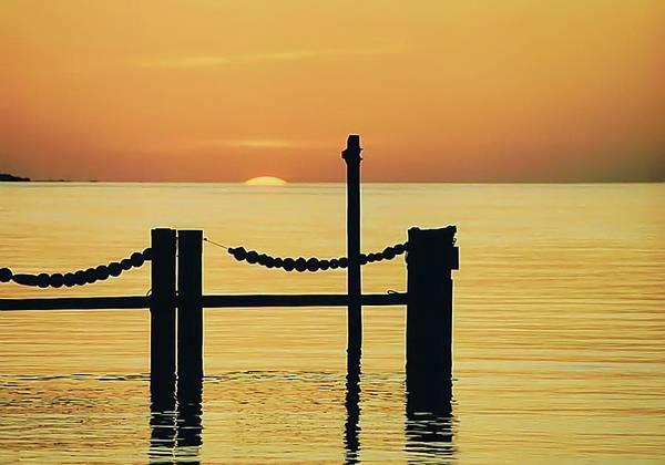 Silhouette Photograph - Silhouette Dock, Florida by Lynn Koenig