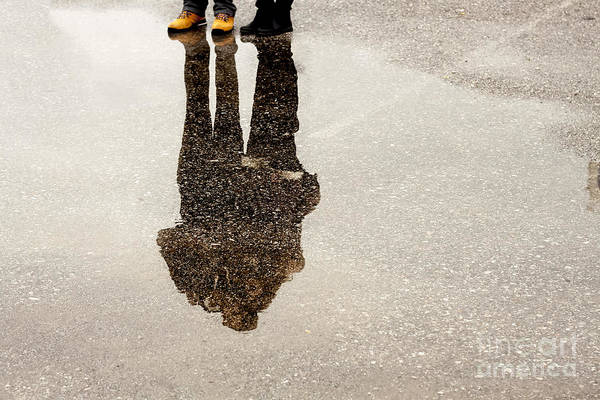 Puddle Wall Art - Photograph - Silhouette by Esin Deniz