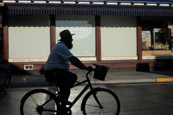 Photograph - Silhouette Man On Bike by Dan Friend