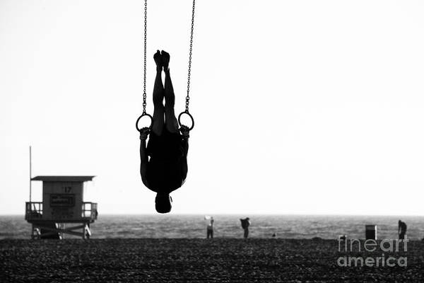 Exercising Photograph - Silhouette Of A Person Swinging On by Celso Diniz