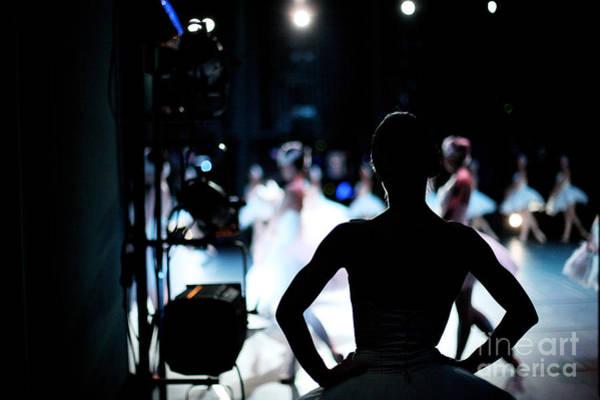 Spectator Wall Art - Photograph - Silhouette Of Ballerina On Background by Anna Jurkovska