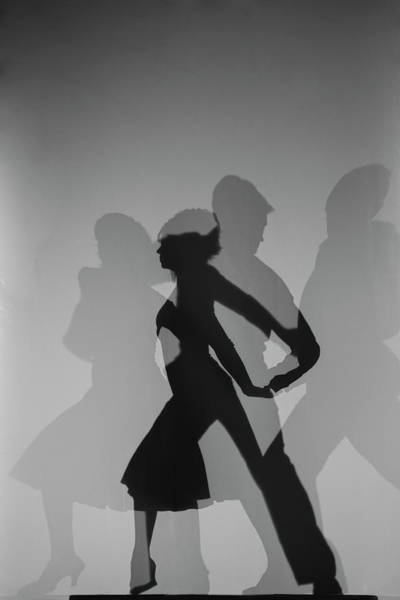 Wall Art - Photograph - Silhouette Of Couple Dancing by Siri Stafford