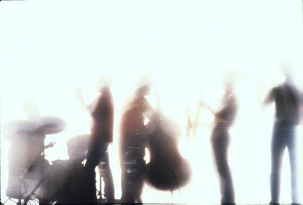 Bleached Photograph - Silhouette Of Five Players In Jazz Band by Markus Amon