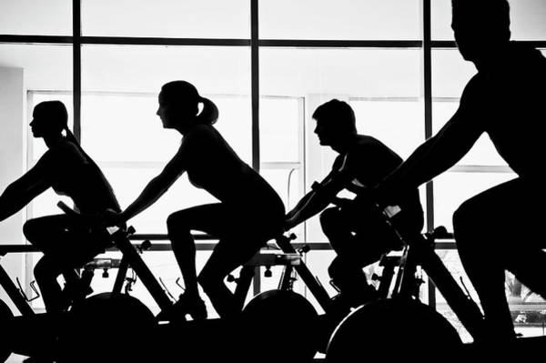 Wall Art - Photograph - Silhouette Of Four People Working Out by Glow Wellness