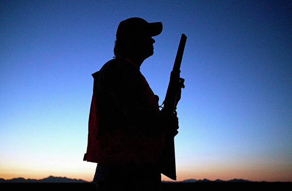 Space Gun Photograph - Silhouette Of Hunter by Jay P. Morgan