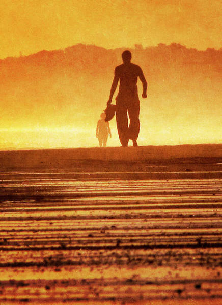Silhouette Photograph - Silhouette Of Man At Beach Walking by Antonio Arcos Aka Fotonstudio Photography