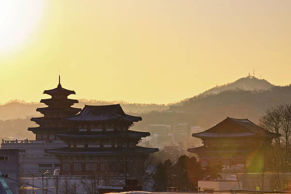 Silhouette Photograph - Silhouette Of Palace by Sungjin Kim