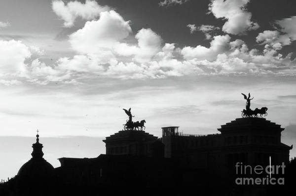 Wall Art - Photograph - Silhouette Of Rome Black And White by Stefano Senise