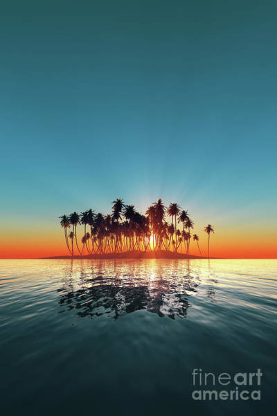 Wall Art - Photograph - Silhouette Of Turquoise Island Sunset by Aleksey Tugolukov