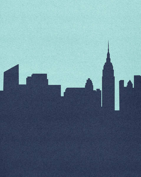 Empire State Building Digital Art - Silhouetted Skyline Of Empire State by Marcus Butt