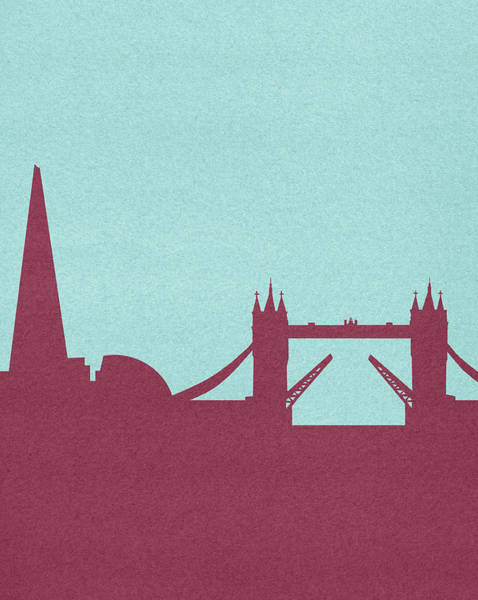 Red Sky Digital Art - Silhouetted Skyline Of Tower Bridge by Marcus Butt