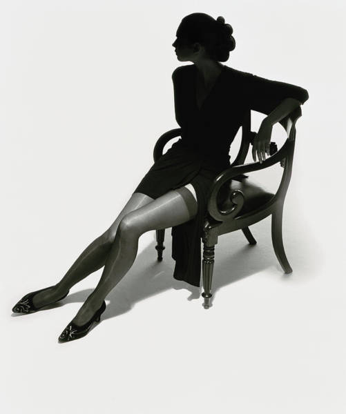Photograph - Silhouetted Woman On Chair by Tim Platt