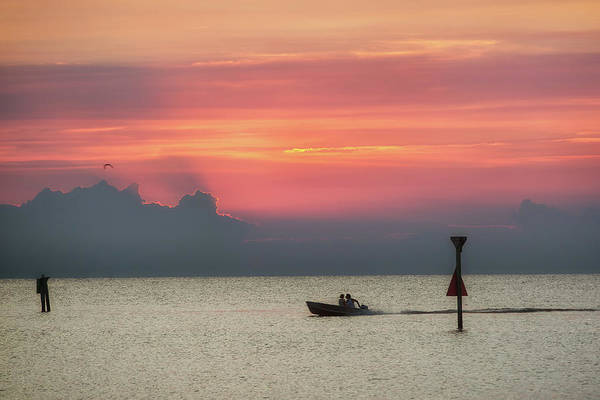 Photograph - Silhouette's Sailing Into Sunset by Nathan Bush