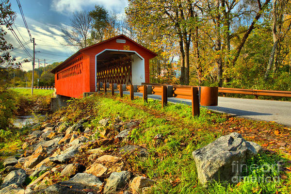 Photograph - Silk Covered Bridge by Adam Jewell
