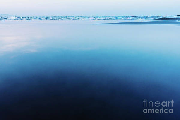 Photograph - Silky Calm Water Background With Waves In The Background And Cal by Joaquin Corbalan