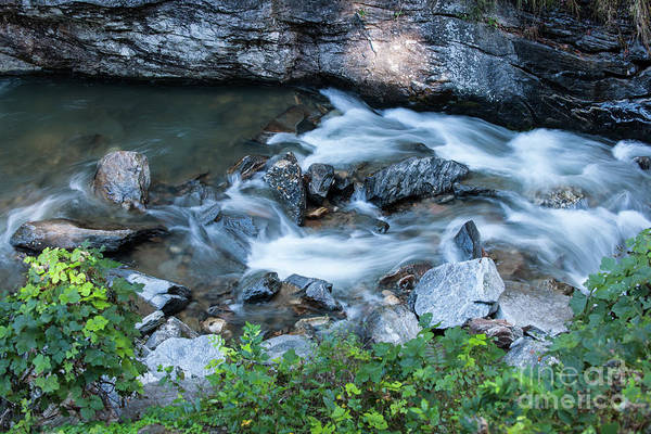 Photograph - Silky Mountain Water Stream In North Carolina by Dale Powell