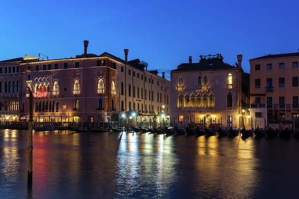 Wall Art - Photograph - Silky Nightfall On The Grand Canal - Canalazzo Venice Italy by Georgia Mizuleva