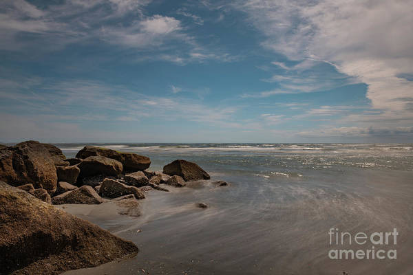 Photograph - Silky Waters - Folly Beach by Dale Powell
