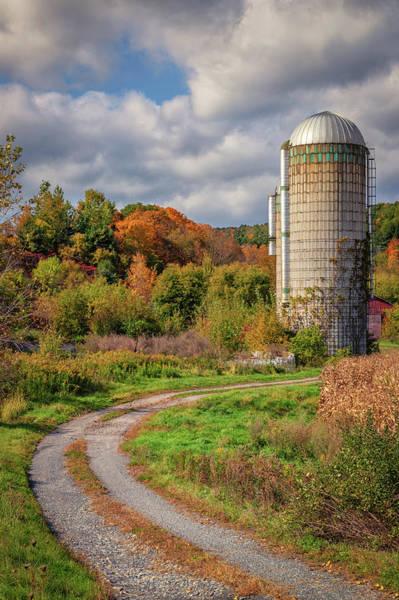 Photograph - Silo In Autumn In Bradford, Vermont by Kristen Wilkinson