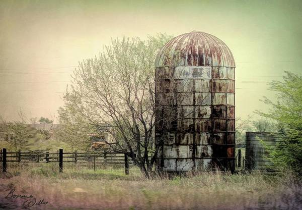 Photograph - Silo On A Farm by Bonnie Willis