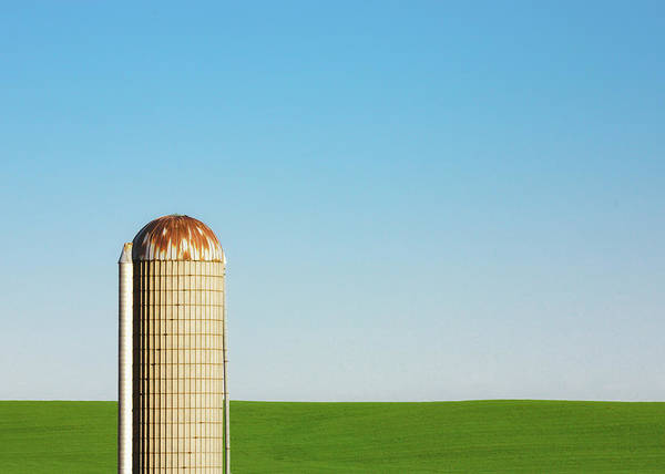 Wall Art - Photograph - Silo On Blue And Green by Todd Klassy