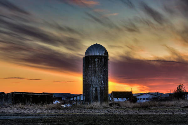Photograph - Silo Sunset by Mark Kiver