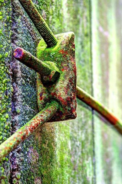 Photograph - Silo Support Turnbuckle by Jerry Sodorff