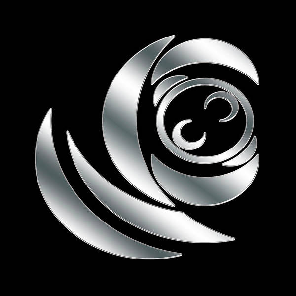 Digital Art - Silver And Black 3 by Chuck Staley