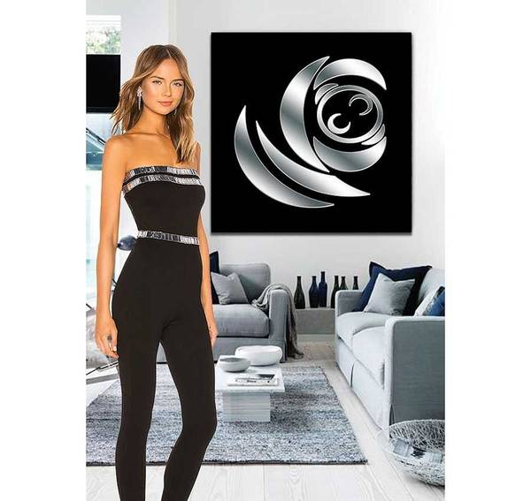 Digital Art - Silver And Black 3 Example by Chuck Staley