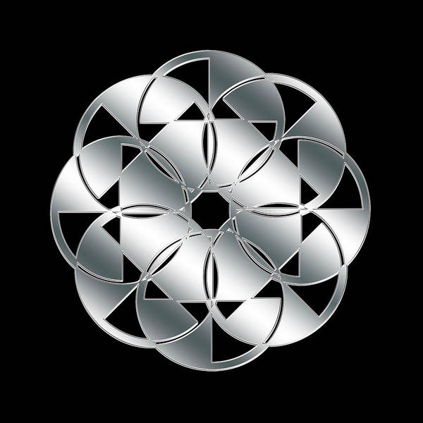 Digital Art - Silver And Black 7 by Chuck Staley