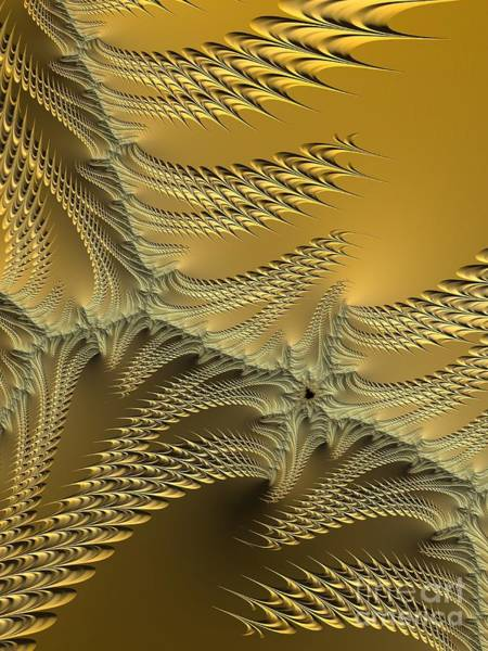 Digital Art - Silver And Gold Sunshine On The Beach Fractal Abstract by Rose Santuci-Sofranko