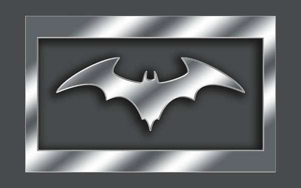 Digital Art - Silver Bat Transparent by Chuck Staley