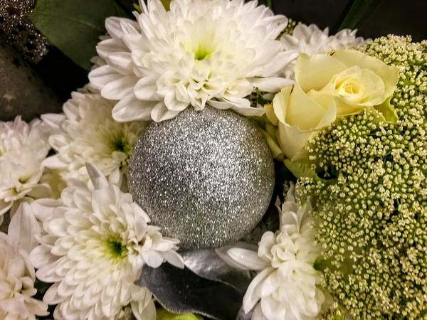 Photograph - Silver Bauble by Rosita Larsson