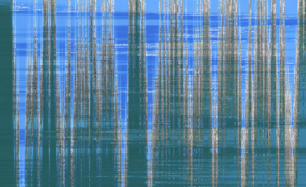 Photograph - Silver Blue Plaid Abstract #2 by Patti Deters