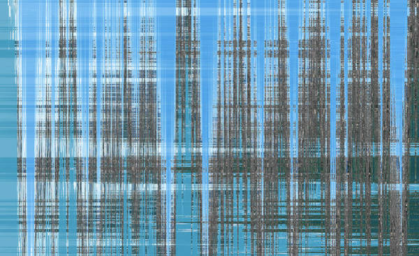 Photograph - Silver Blue Plaid Abstract #3 by Patti Deters