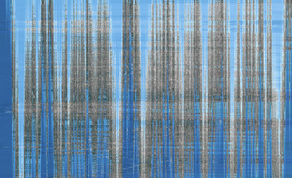 Photograph - Silver Blue Plaid Abstract #4 by Patti Deters