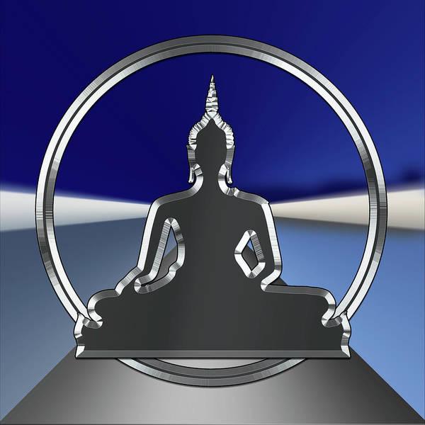 Digital Art - Silver Buddha by Chuck Staley