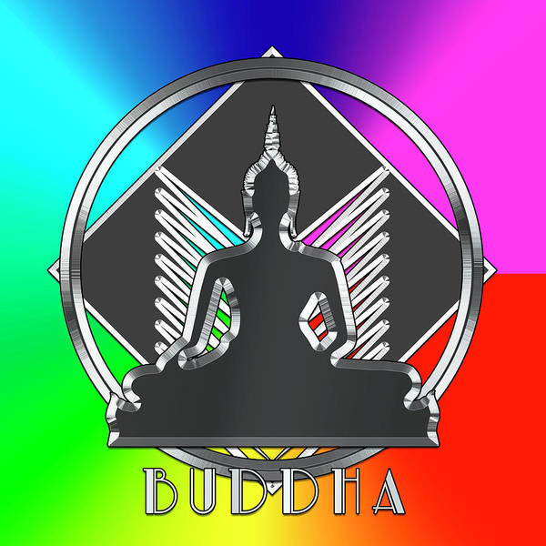 Digital Art - Silver Buddha Rainbow by Chuck Staley