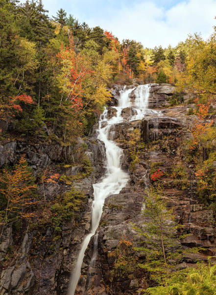 New Hampshire Photograph - Silver Cascade Waterfall, White by Picturelake
